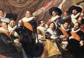 Banquet of the Officers of the St George Civic Guard Company (1) c. 1627 - Frans Hals