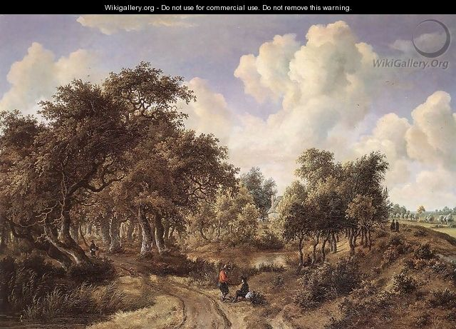 A Wooded Landscape 1660-65 - Meindert Hobbema