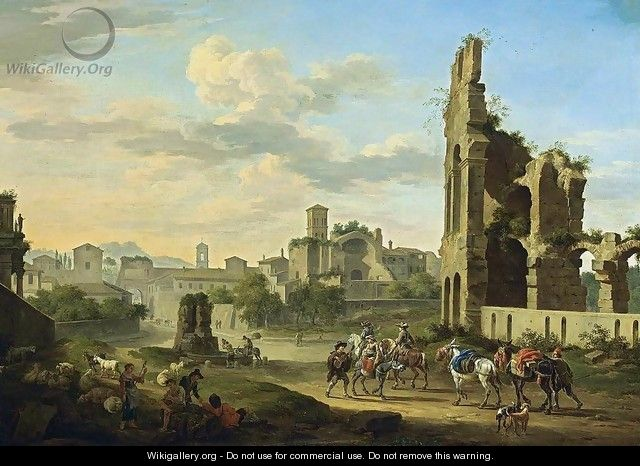 Rome- A View of the Forum Romanum 1694 - Jacob De Heusch