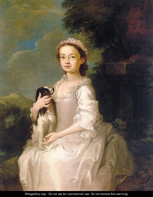 Portrait of a Young Girl 1742-45 - Follower of William Hogarth