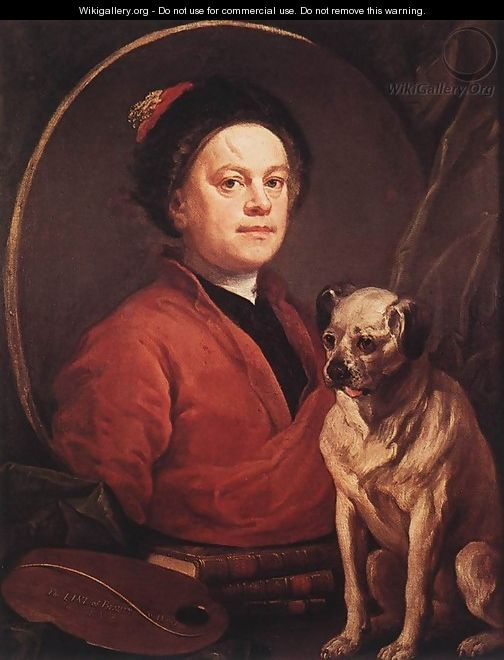 The Painter and his Pug 1745 - William Hogarth