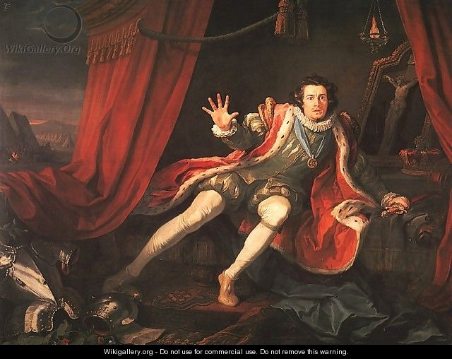 David Garrick as Richard III 1745 - William Hogarth
