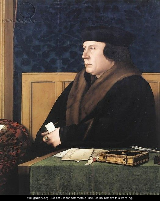 Portrait of Thomas Cromwell c. 1533 - Hans, the Younger Holbein
