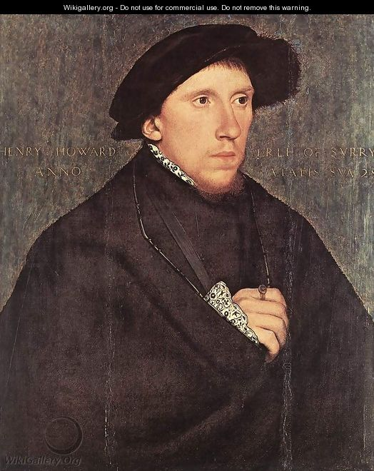 Portrait of Henry Howard, the Earl of Surrey 1541-43 - Hans, the Younger Holbein