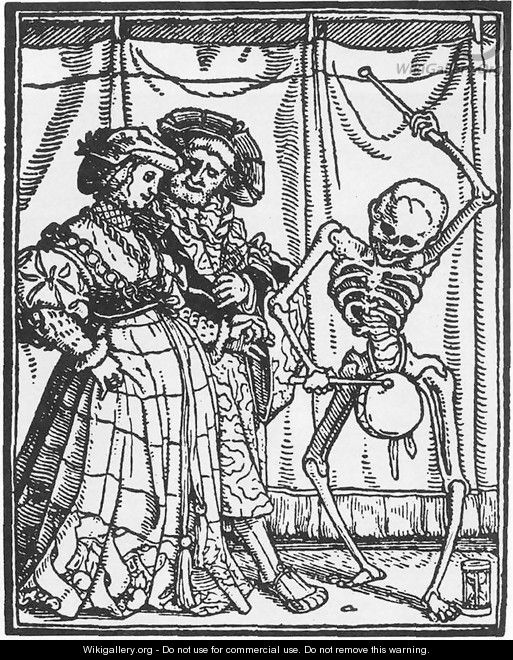 The Noble Lady from Dance of Death 1524-26 - Hans, the Younger Holbein