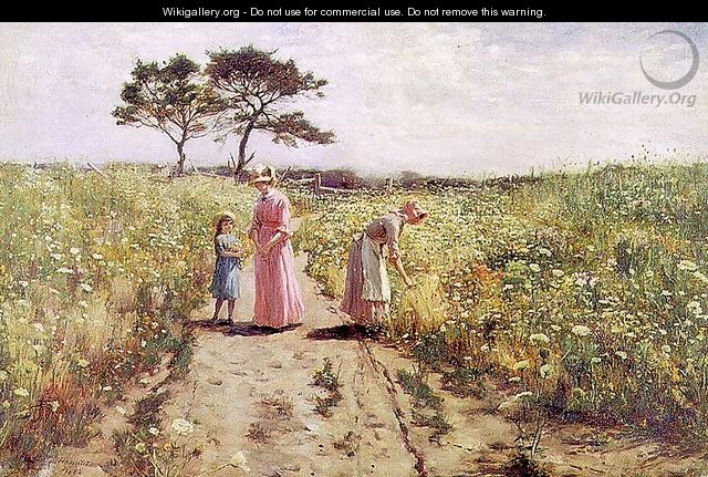 Picking Flowers 1882 - Hamilton Hamilton