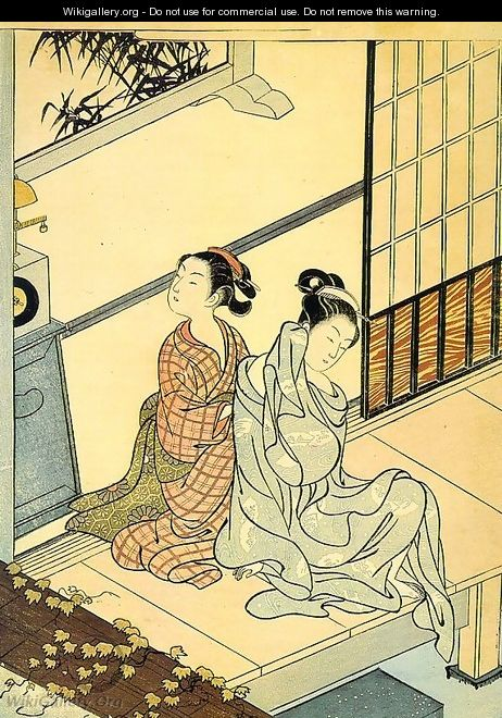 Eight Views- The Evening Bell - Suzuki Harunobu