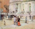 The Manhattan Club (The Stewart Mansion) 1891 - Childe Hassam