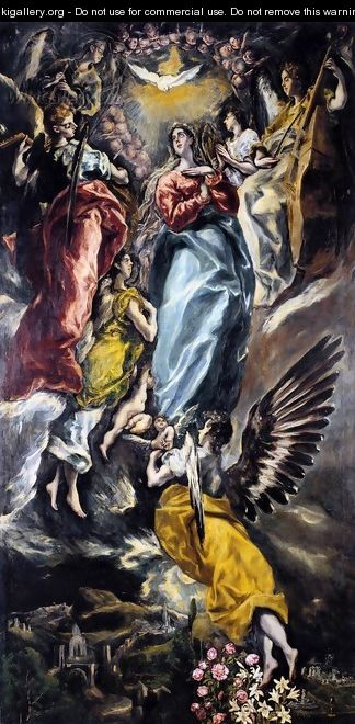 The Virgin of the Immaculate Conception 1608-13 - El Greco (Domenikos Theotokopoulos)