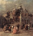 Piazza di San Marco (detail) 1777 - Francesco Guardi