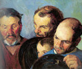 Heads of Three Men and a Boy - Bernhard Gutmann