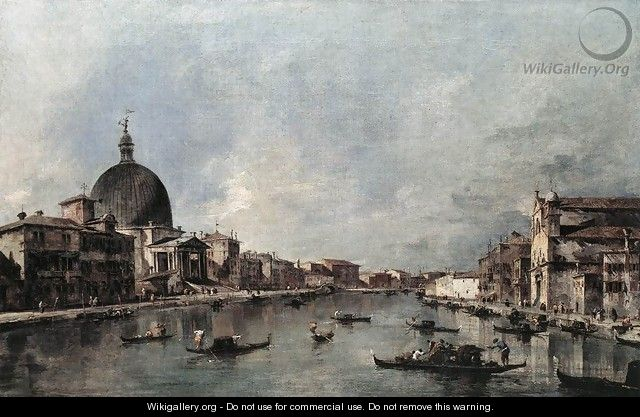 The Grand Canal with San Simeone Piccolo and Santa Lucia 1780s - Francesco Guardi