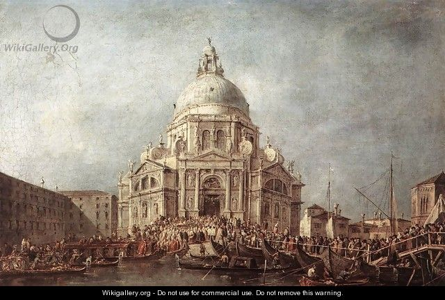 The Doge at the Basilica of La Salute 1766-70 - Francesco Guardi