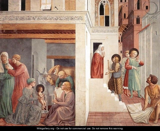 Scenes from the Life of St Francis (Scene 1, north wall) 1452 - Benozzo di Lese di Sandro Gozzoli