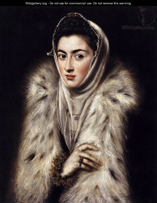 A Lady in a Fur Wrap 1577-80 - El Greco (Domenikos Theotokopoulos)