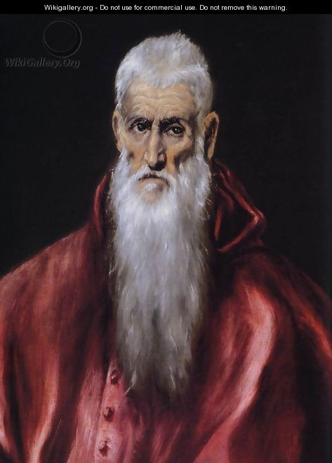 St Jerome as a Scholar (detail) 1600-14 - El Greco (Domenikos Theotokopoulos)