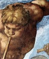 Last Judgment (detail-9) 1537-41 - Michelangelo Buonarroti