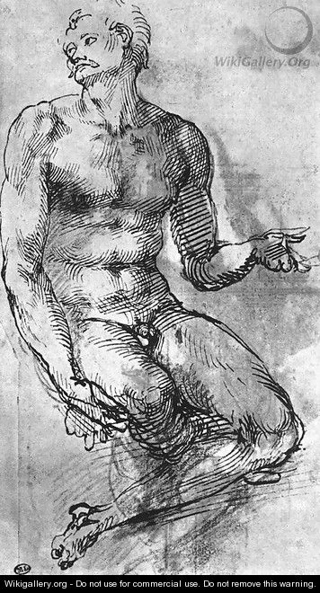 Nude Man from the Front 1510-11 - Michelangelo Buonarroti