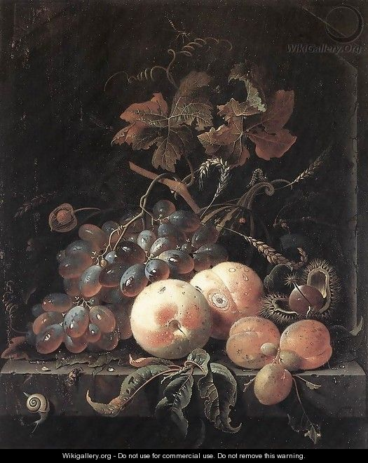Still-Life with Fruits 1660s - Abraham Mignon