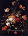 A Glass of Flowers and an Orange Twig 1660s - Abraham Mignon