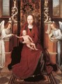 Virgin and Child Enthroned with Two Angels 1485-90 - Hans Memling