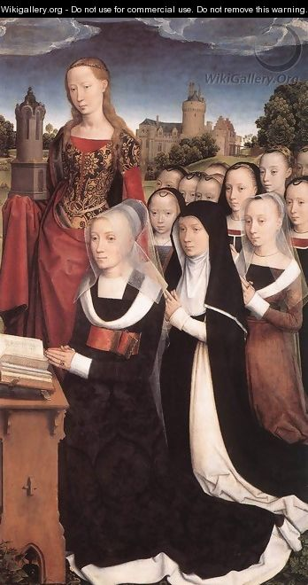 Triptych of the Family Moreel (right wing) 1484 - Hans Memling