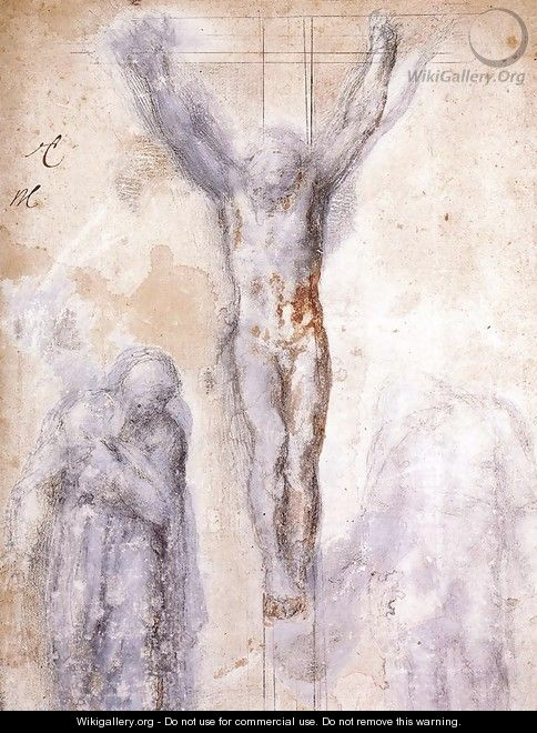 Christ Crucified between the Virgin and Nicodemus c. 1552-54 - Michelangelo Buonarroti
