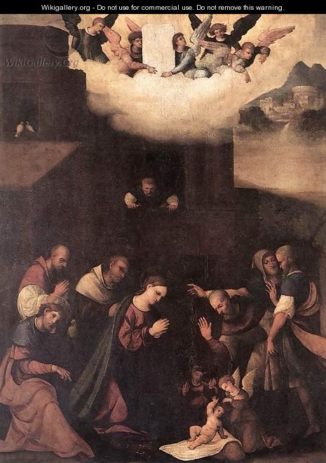 Adoration of the Shepherds 1520-24 - Ludovico Mazzolino