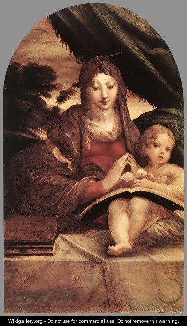 Madonna and Child c. 1525 - Girolamo Francesco Maria Mazzola (Parmigianino)