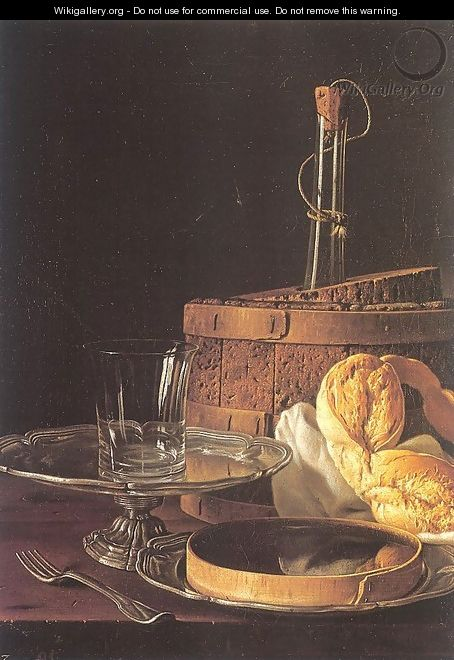 Still-Life with a Box of Sweets and Bread Twists 1770 - Luis Eugenio Melendez