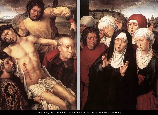 Diptych with the Deposition 1492-94 - Hans Memling
