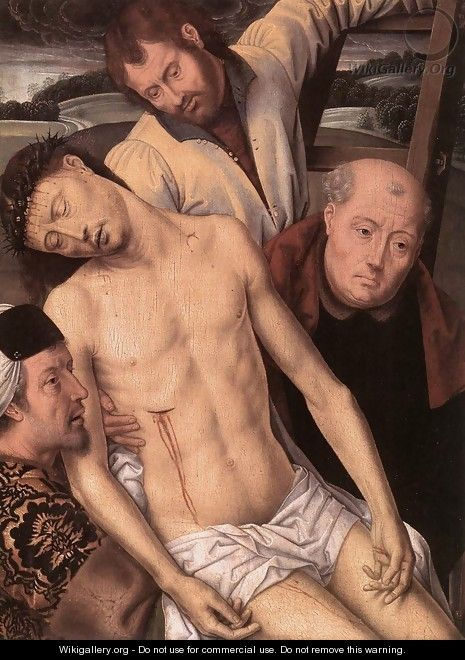 Deposition (left wing of a diptych) 1490s - Hans Memling