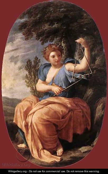 The Muse Terpsichore 1652-55 - Eustache Le Sueur