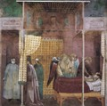 Legend of St Francis- 26. The Healing of a Devotee of the Saint c. 1300 - Master of Saint Cecilia