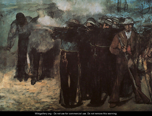"Study for ""Execution of the Emperor Maximilian"" 1867 - Edouard Manet"