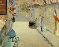 Rue Mosnier with Flags 1878 - Edouard Manet