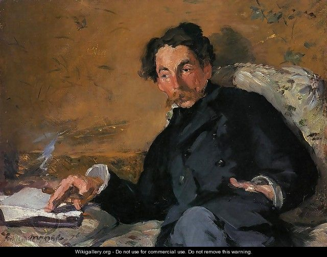 Portrait of Stephane Mallarme 1876 - Edouard Manet