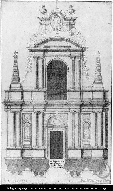 The Facade of the Church of the Feuillants, Paris 1660 - Jean I Marot