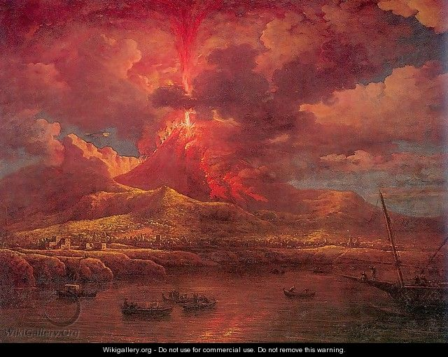 Vesuvius Erupting at Night 1768 - William Marlow