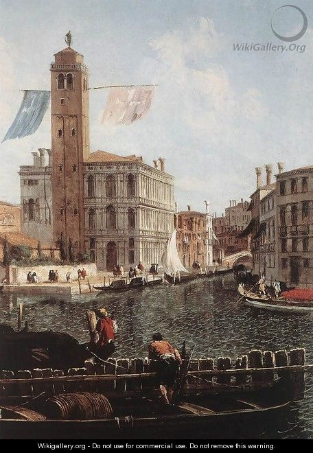 The Grand Canal with the Fishmarket (detail) c. 1740 - Michele Marieschi