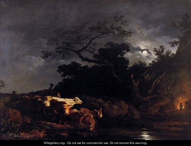 Clair de Lune (Moonlight) 1777 - Philip Jacques de Loutherbourg
