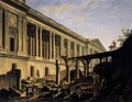 Clearing the Area in front of the Louvre Colonnade (1) c. 1760 - Pierre-Antoine de Machy