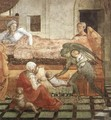 St Stephen is Born and Replaced by Another Child (detail-1) 1452-65 - Fra Filippo Lippi