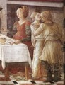 Disputation in the Synagogue (detail-3) 1452-65 - Fra Filippo Lippi