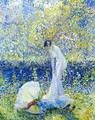 Cherry Blossoms I - Frederick Carl Frieseke