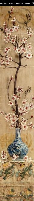 Still Life with Plum Blossoms in an Oriental Vase - Charles Caryl Coleman