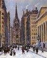 Wall Street Facing Trinity Church - Colin Campbell Cooper