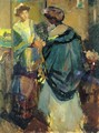 Woman Looking in a Mirror - Richard Emil Miller