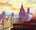 Rooftops at Sunset - Colin Campbell Cooper