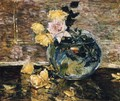 Roses in a Vase - Frederick Childe Hassam